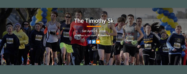 The Timothy 5K - Apr 28 2018 8:00 AM